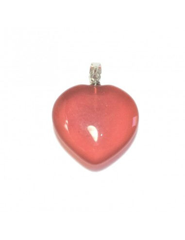 Pendentif Coeur Cornaline 16mm